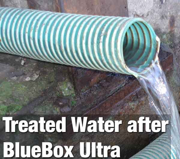 Treated water outflow Bluetector